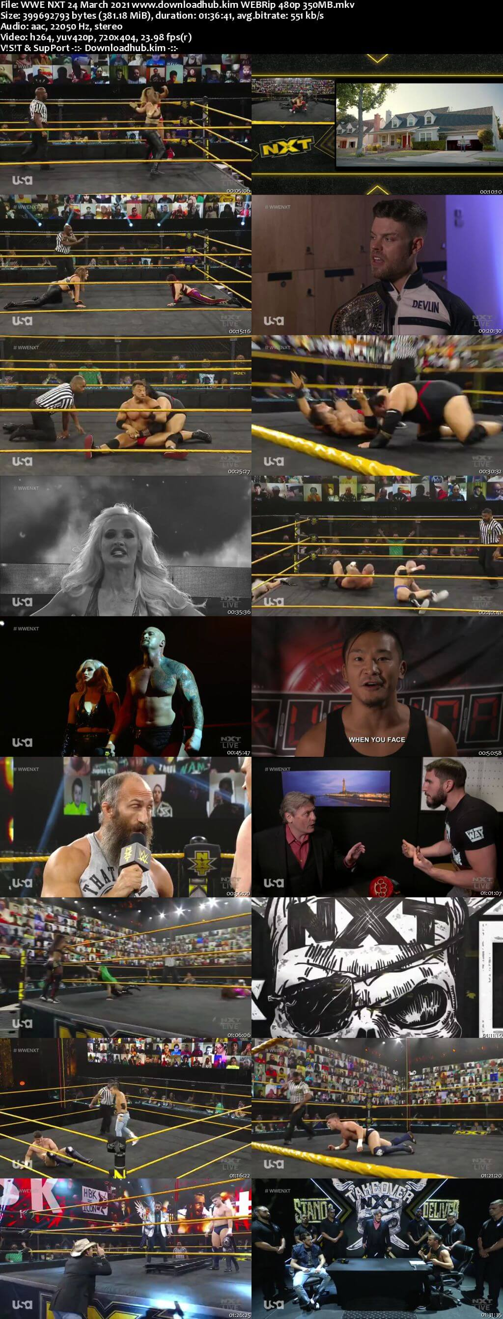 WWE NXT 24th March 2021 350MB HDTV 480p