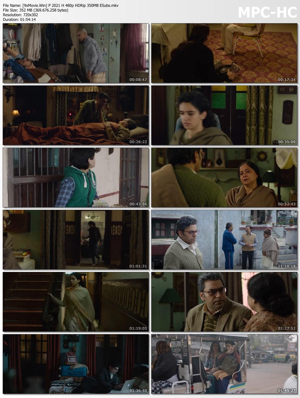 Pagglait 2021 Hindi 480p HDRip x264 350MB ESubs