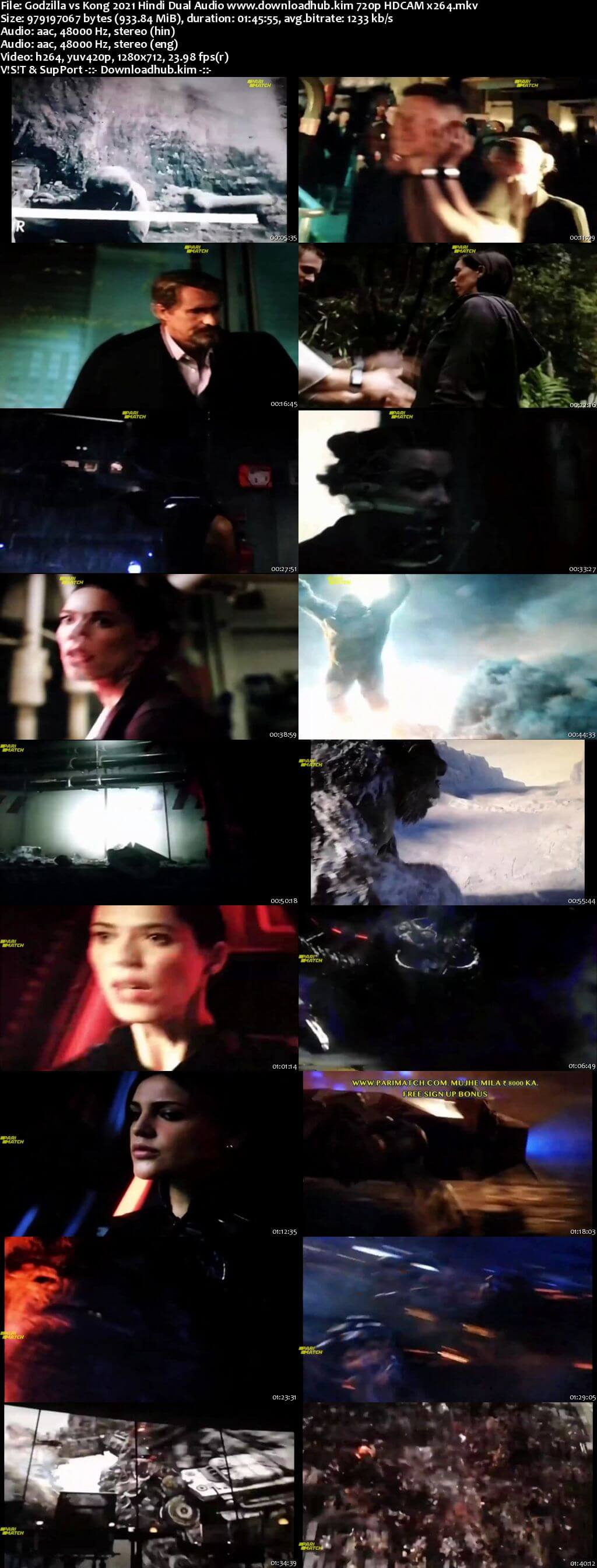 Godzilla vs Kong 2021 Hindi Dual Audio 720p HDCAM x264