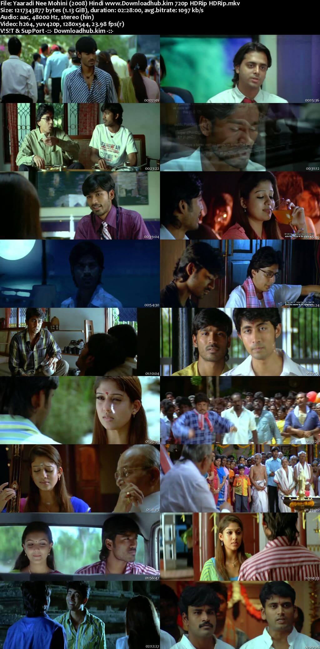 Yaaradi Nee Mohini 2008 Hindi Dubbed 720p HDRip x264