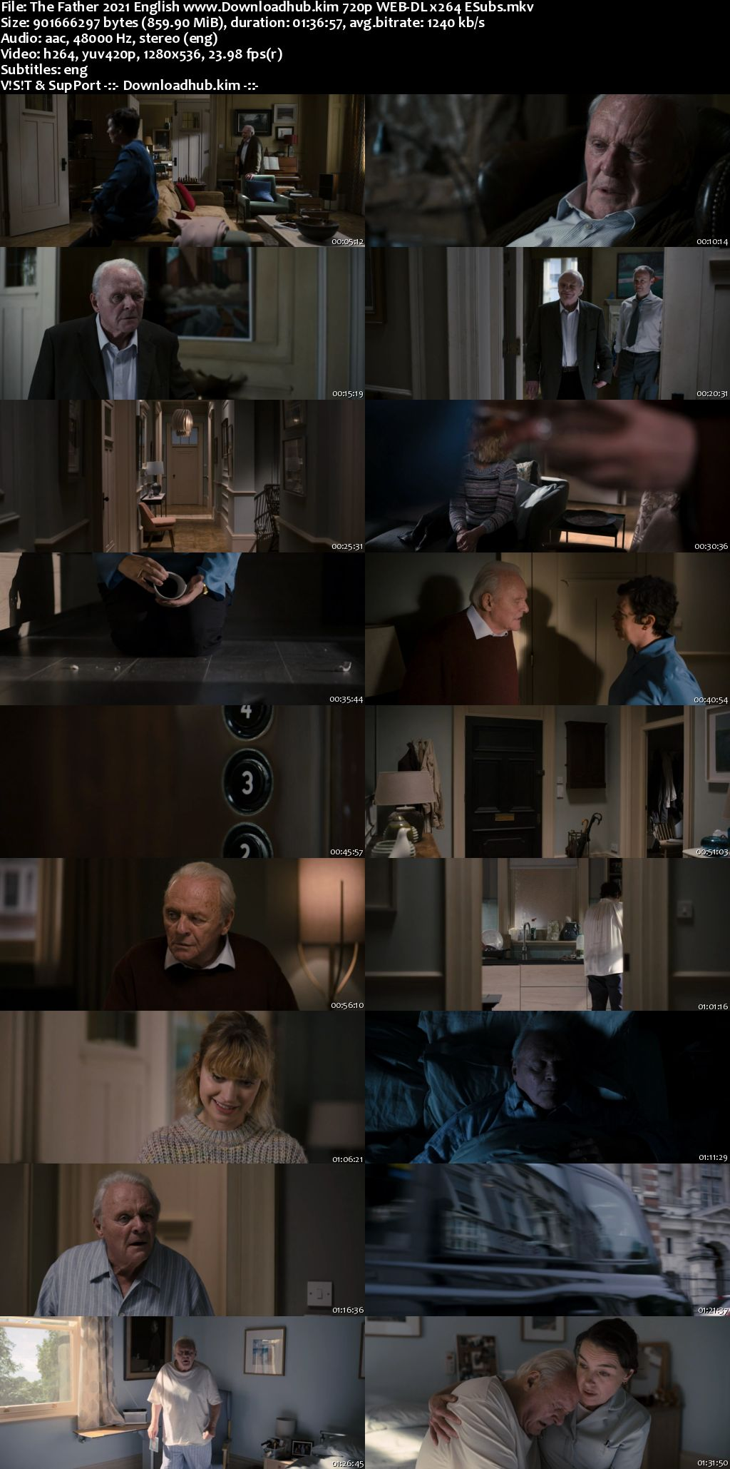 The Father 2020 English 720p Web-DL 850MB ESubs