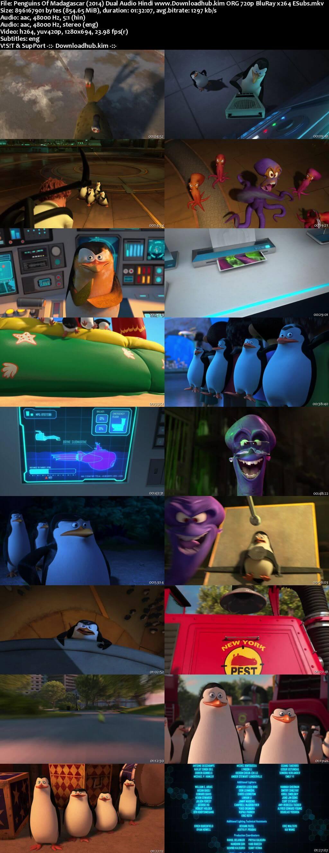 Penguins of Madagascar 2014 Hindi Dual Audio 720p BluRay ESubs