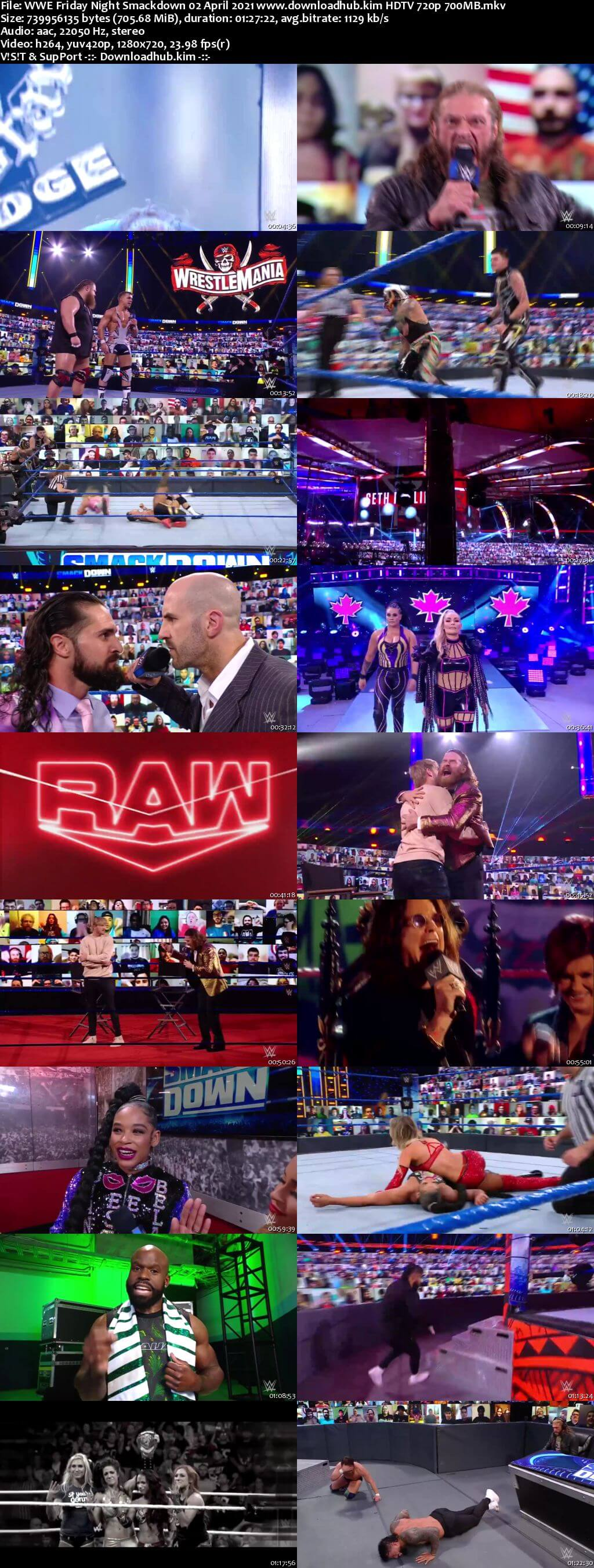 WWE Friday Night Smackdown 2nd April 2021 720p 300MB HDTV 480p