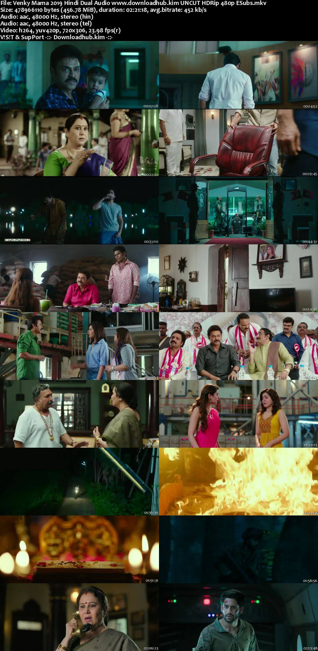 Venky Mama 2019 Hindi Dual Audio 450MB UNCUT HDRip 480p ESubs