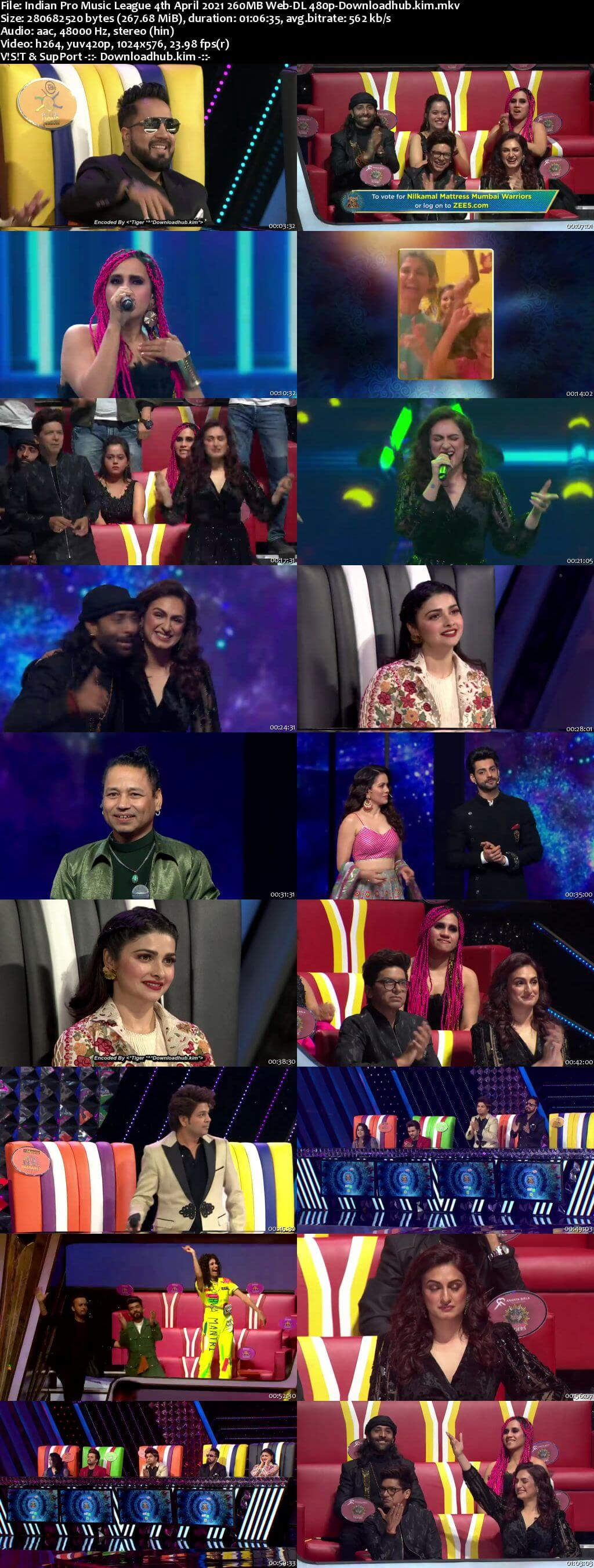 Indian Pro Music League 4th April 2021 260MB Web-DL 480p