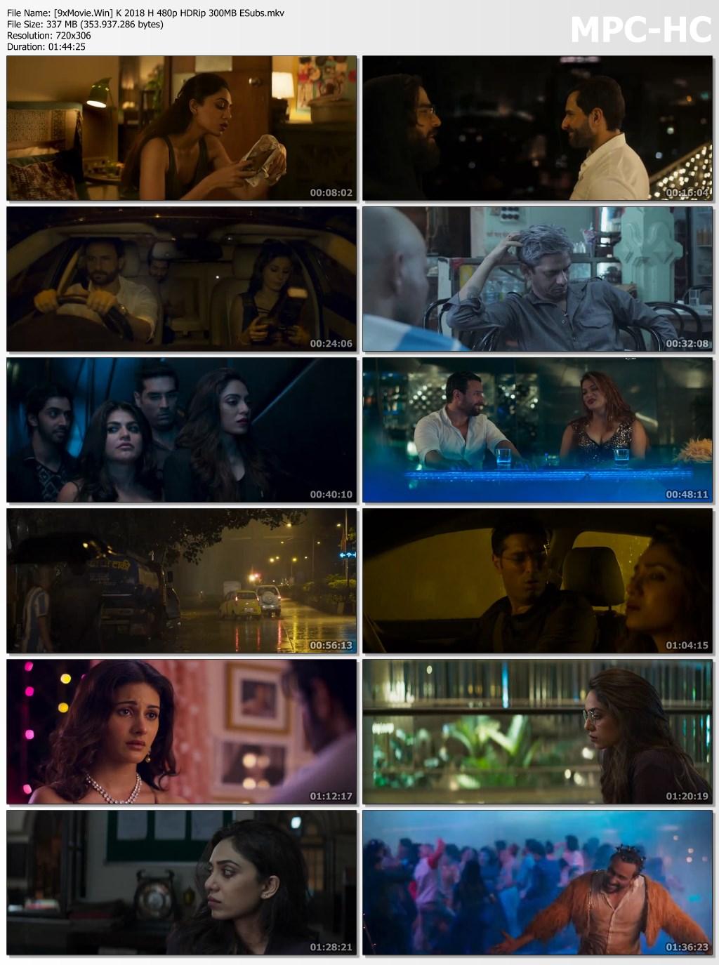 Kaalakaandi 2018 Hindi 480p HDRip x264 300MB ESubs