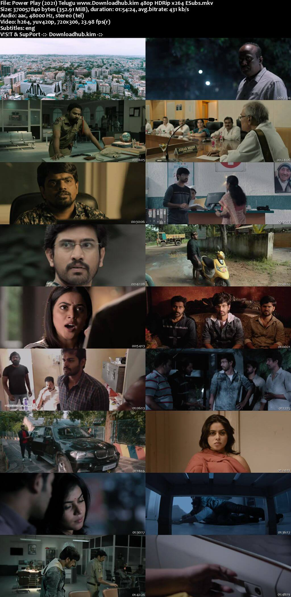 Power Play 2021 Telugu 350MB HDRip 480p ESubs