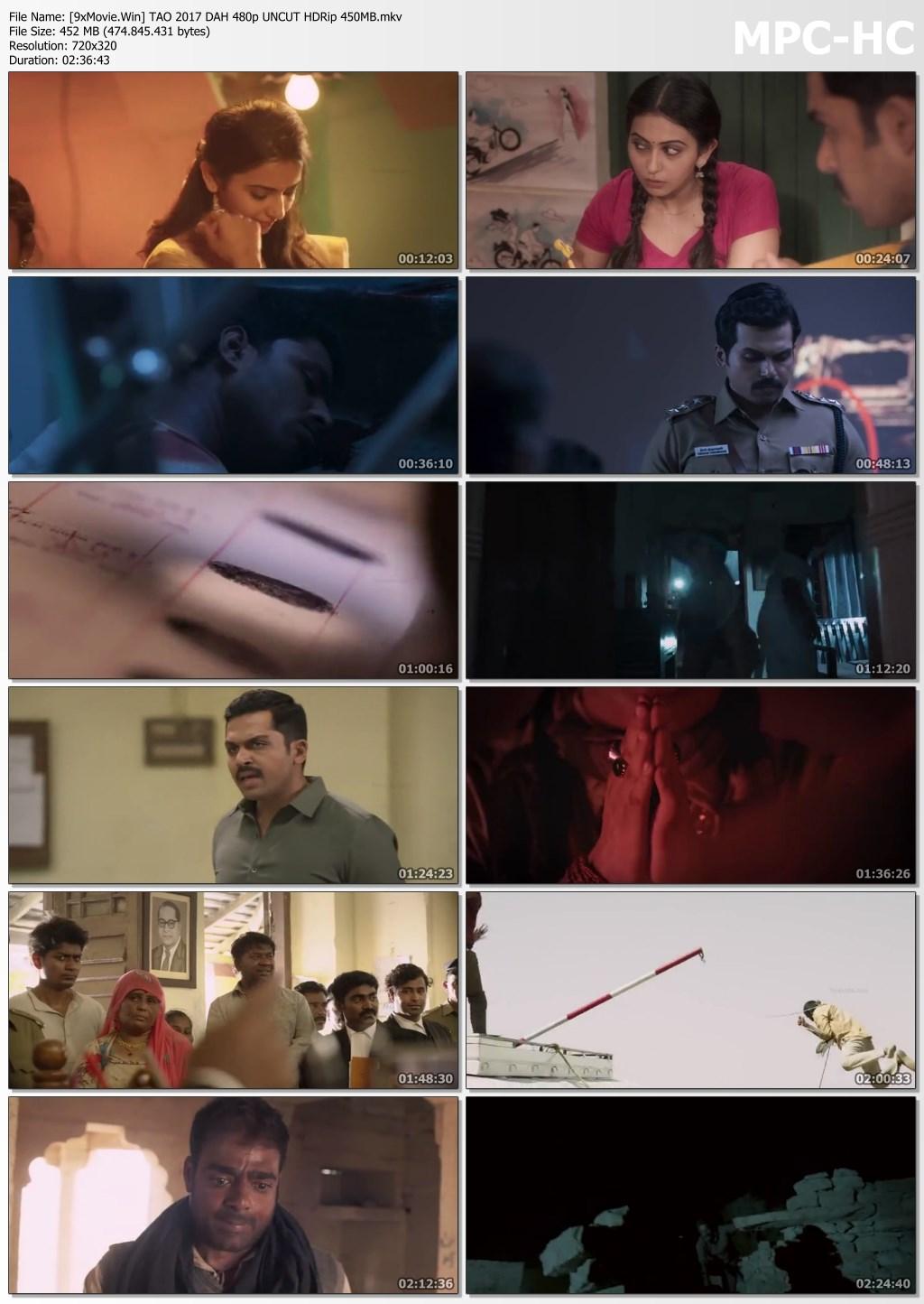 Theeran Adhigaram Ondru 2017 Dual Audio Hindi 480p UNCUT HDRip x264 450MB
