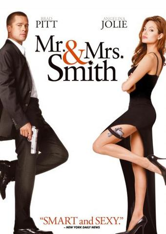 Mr. & Mrs. Smith 2005 Hollywood Movie Hindi ORG 480p BluRay x264 350MB ESubs