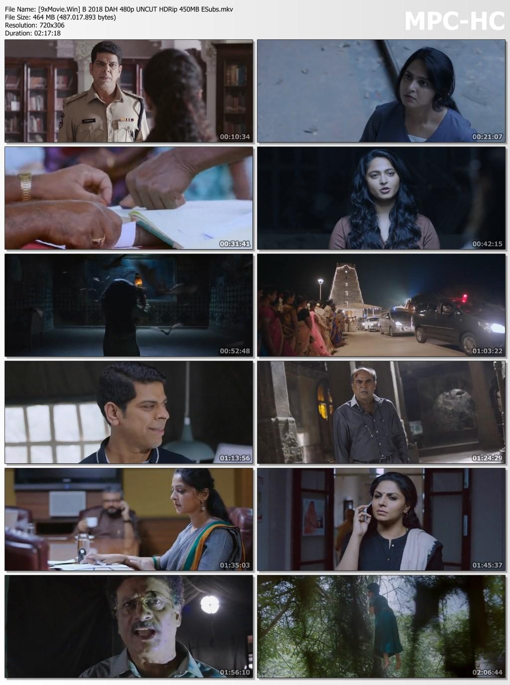 Bhaagamathie 2018 Dual Audio Hindi 480p UNCUT HDRip x264 450MB ESubs