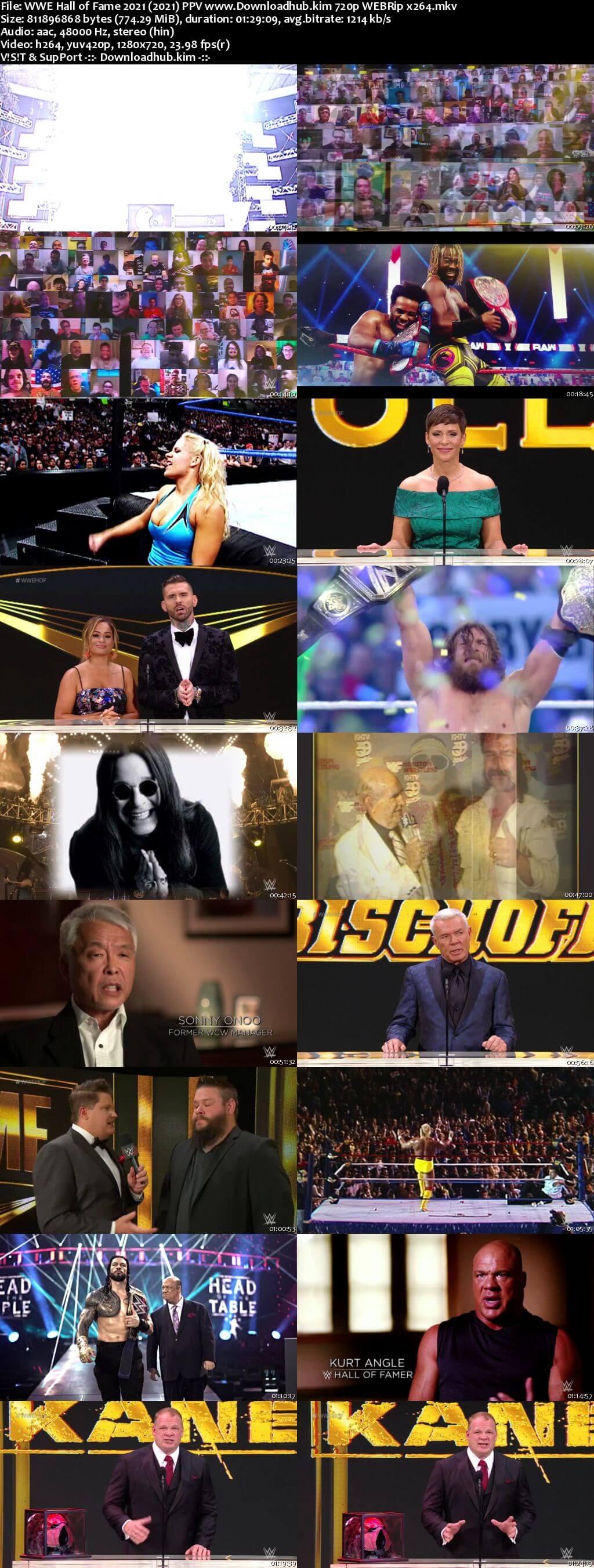 WWE Hall of Fame 6th April 2021 720p 350MB WEBRip 480p