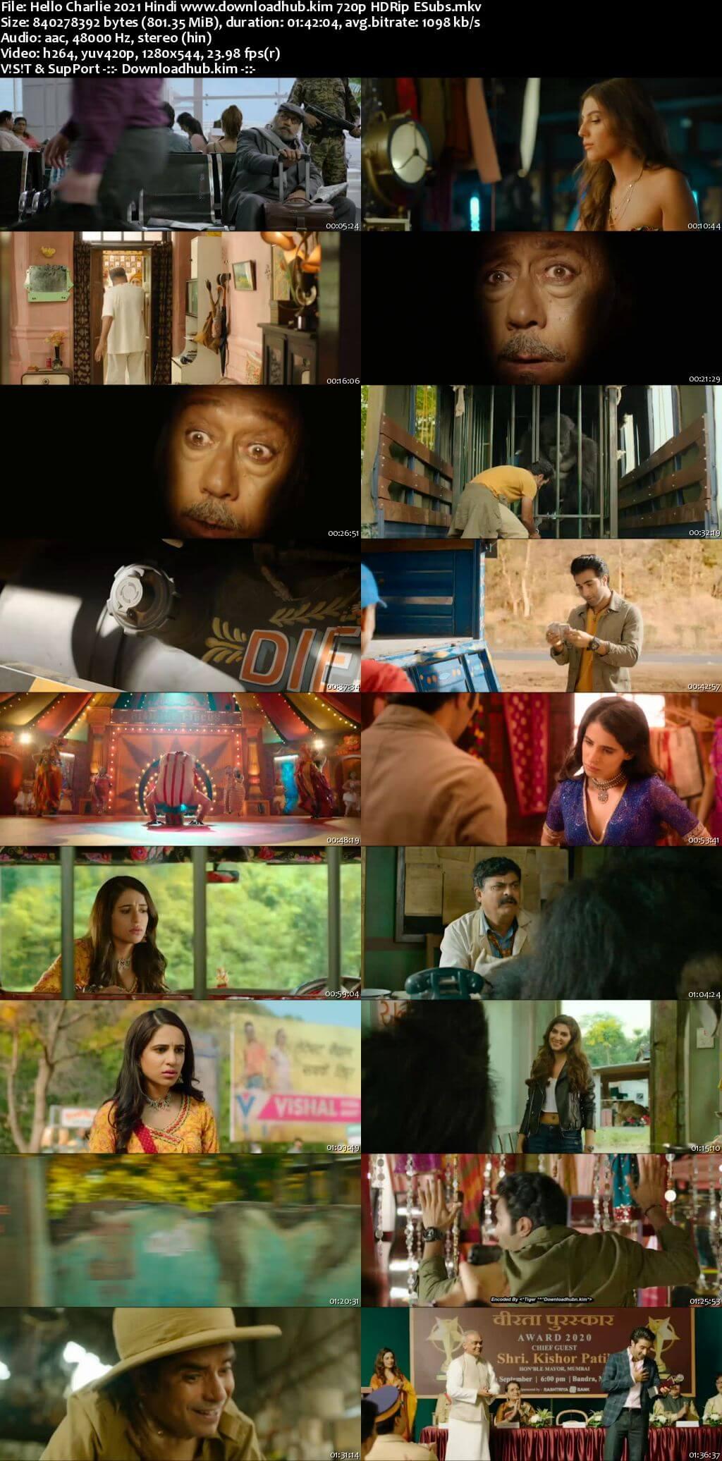 Hello Charlie 2021 Hindi 720p HDRip ESubs