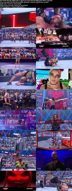 WWE Monday Night Raw 12th April 2021 720p 500MB HDTVRip 480p