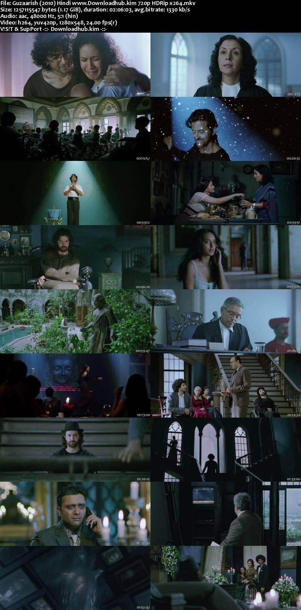 Guzaarish 2010 Hindi 720p HDRip x264