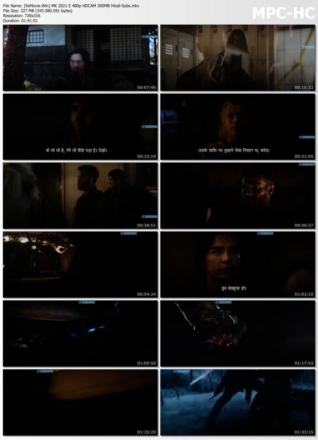 Mortal Kombat 2021 English 480p HDCAM x264 300MB Hindi-Subs