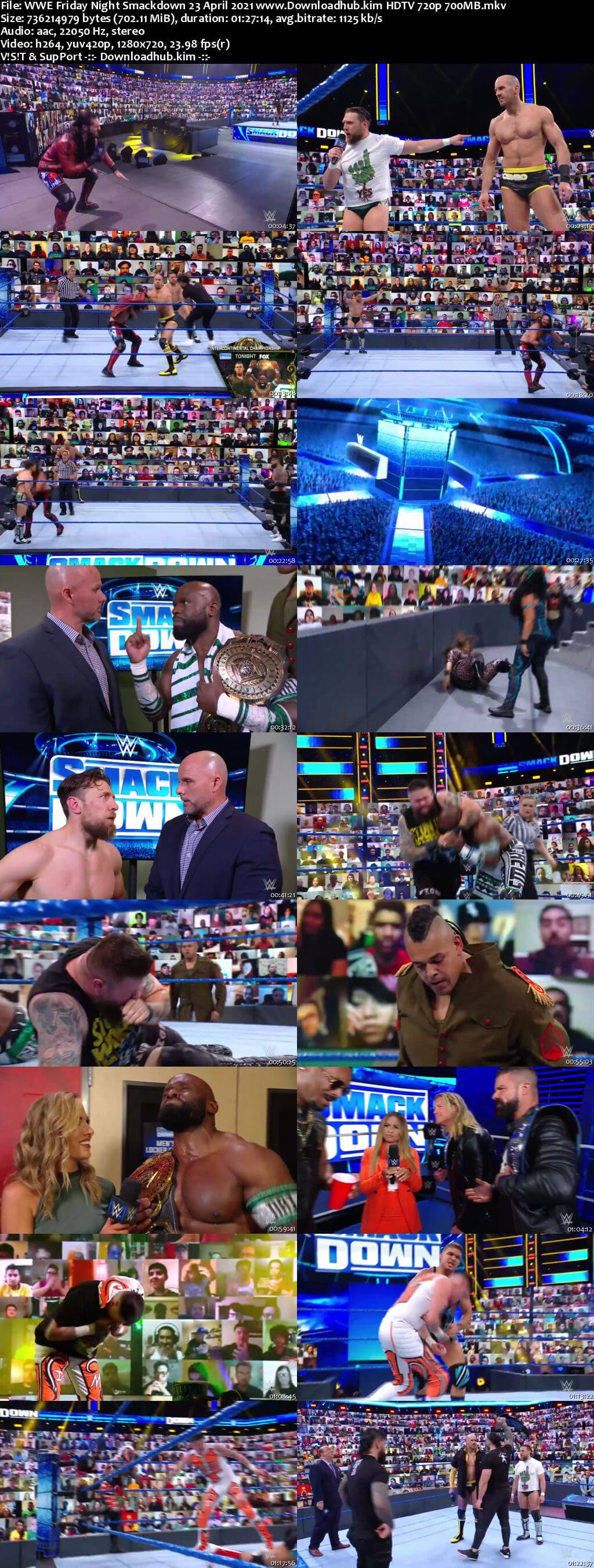 WWE Friday Night Smackdown 23rd April 2021 720p 300MB HDTV 480p