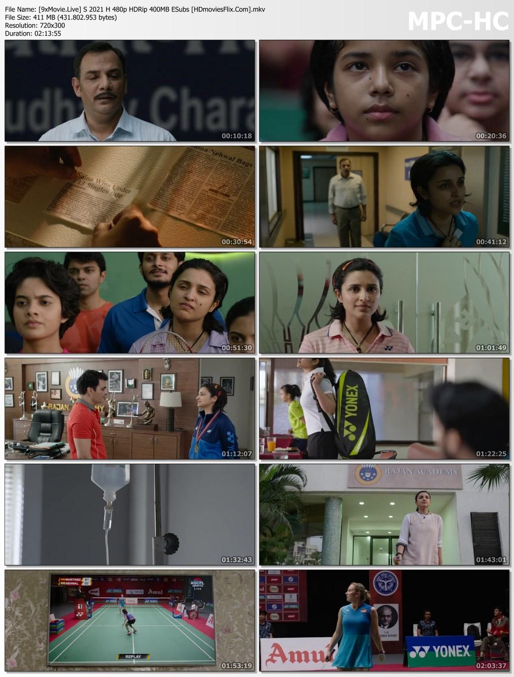 Saina 2021 Hindi 480p HDRip x264 400MB ESubs