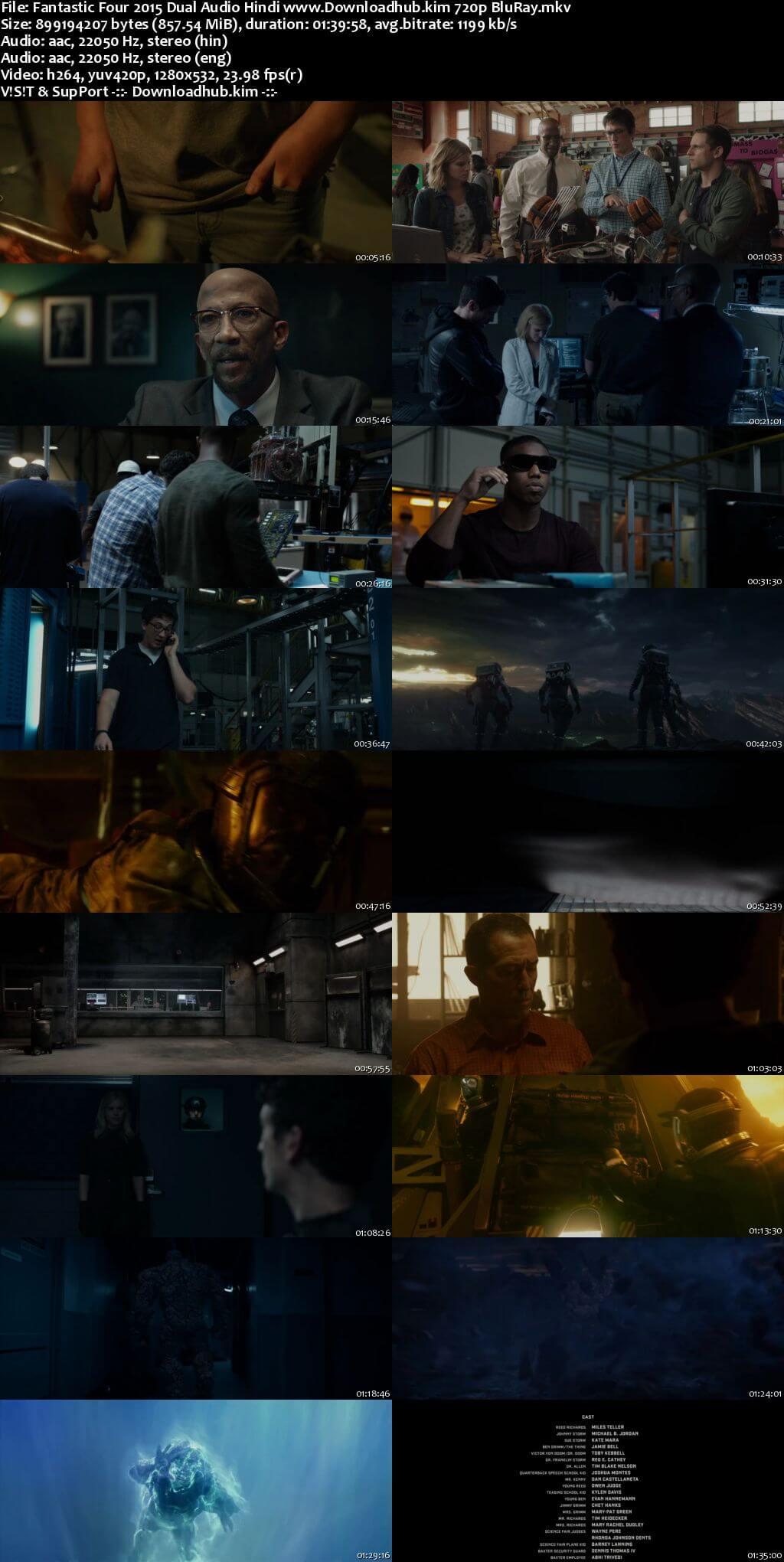 Fantastic Four 2015 Hindi Dual Audio 720p BluRay x264