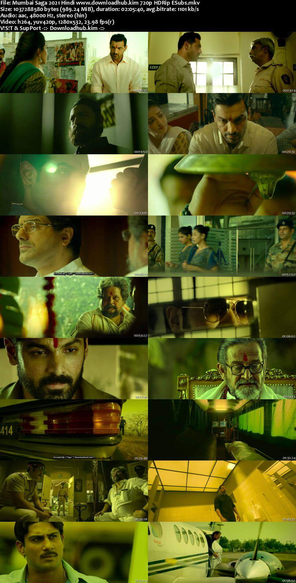 Mumbai Saga 2021 Hindi 720p HDRip ESubs