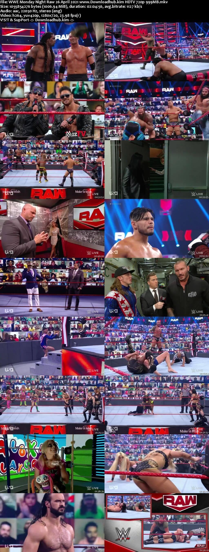 WWE Monday Night Raw 26th April 2021 720p 500MB HDTVRip 480p