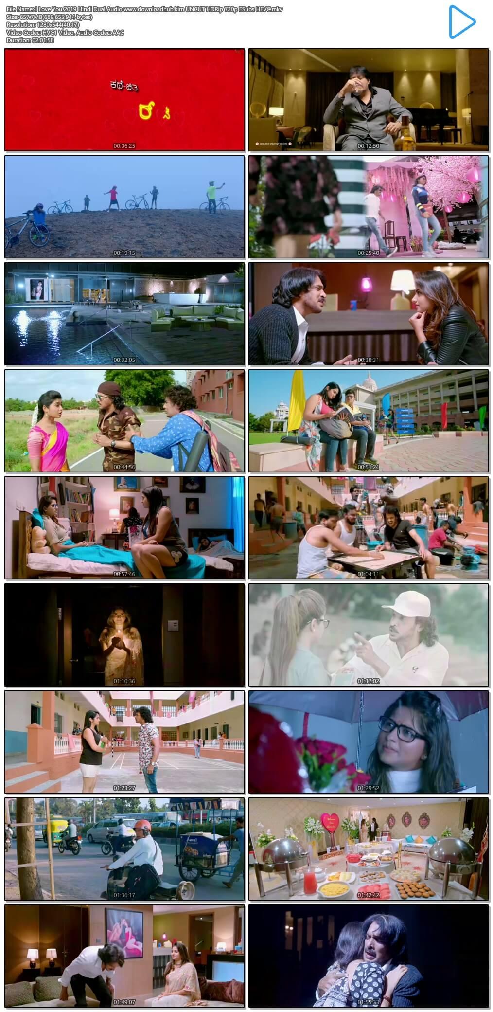 I Love You 2019 Hindi Dual Audio 650MB UNCUT HDRip 720p ESubs HEVC