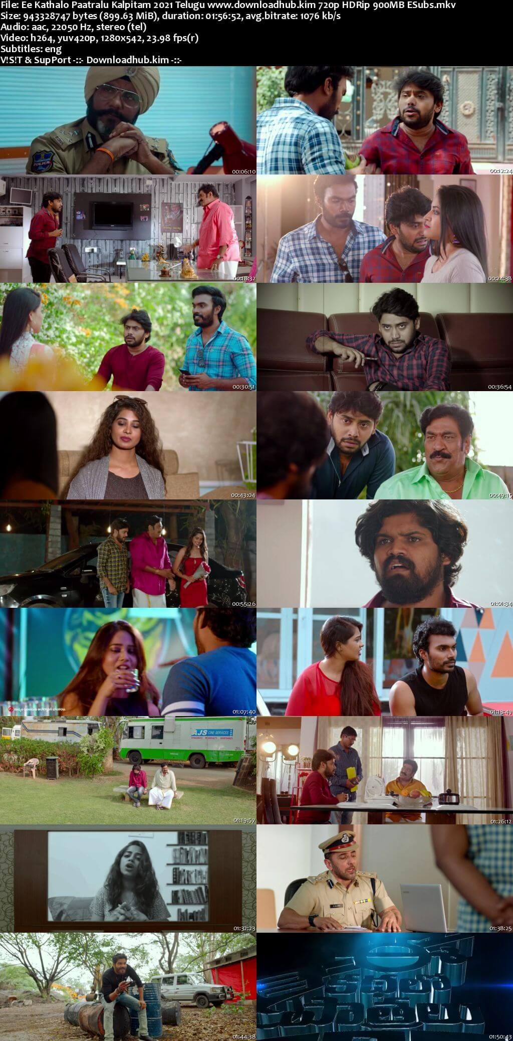 Ee Kathalo Paathralu Kalpitam 2021 Telugu 720p HDRip ESubs