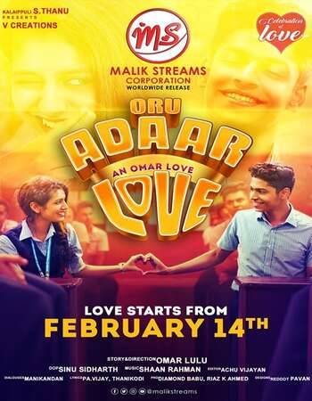 Oru Adaar Love 2019 UNCUT Hindi Dual Audio HDRip Full Movie 720p HEVC Free Download