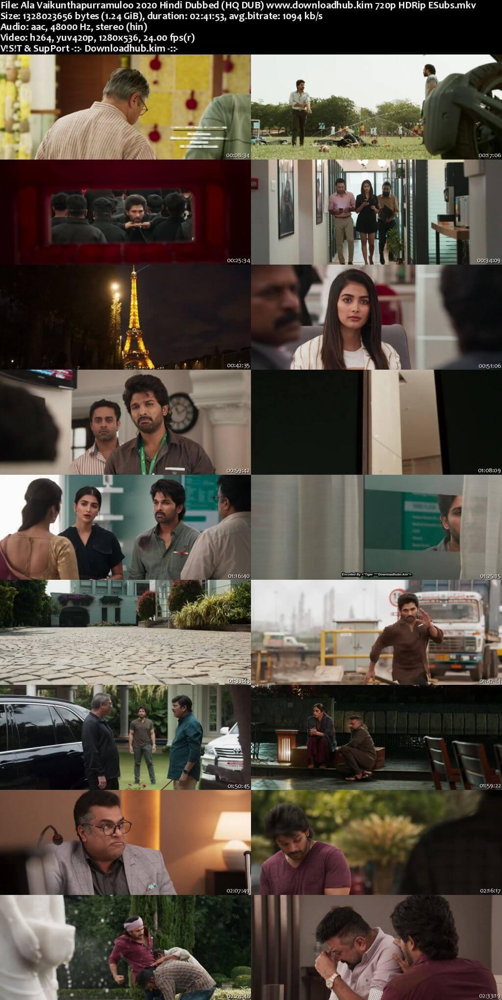 Ala Vaikunthapurramuloo 2020 Hindi Dubbed (HQ DUB) 720p HDRip ESubs