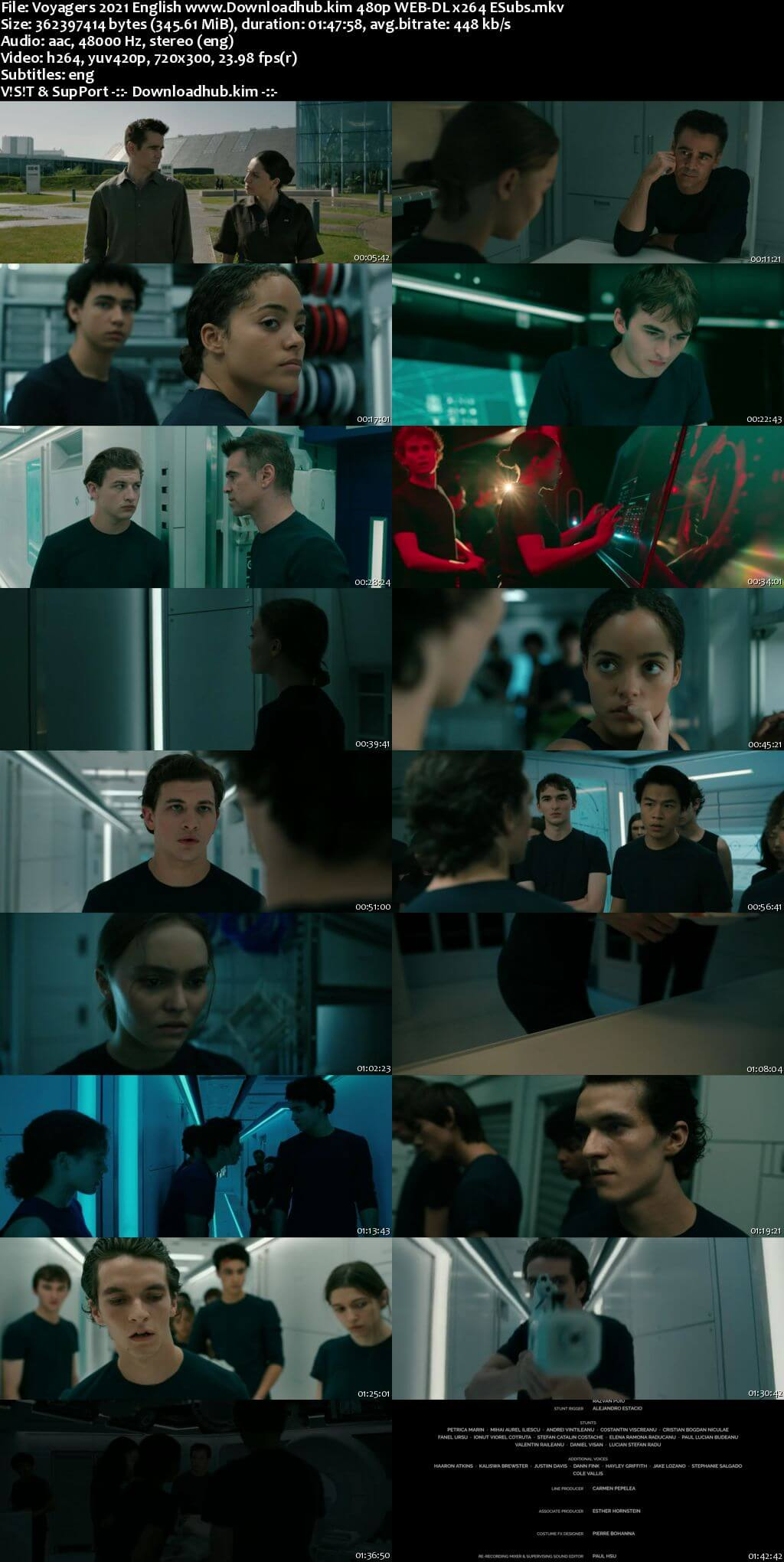 Voyagers 2021 English 350MB Web-DL 480p ESubs