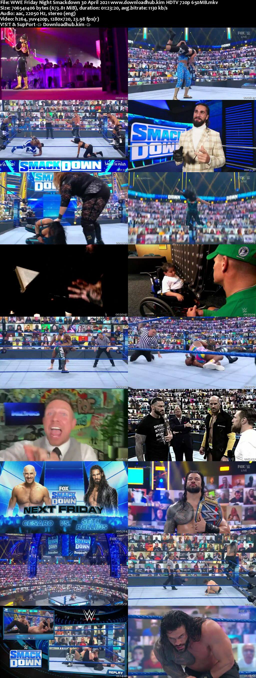 WWE Friday Night Smackdown 30th April 2021 720p 300MB HDTV 480p