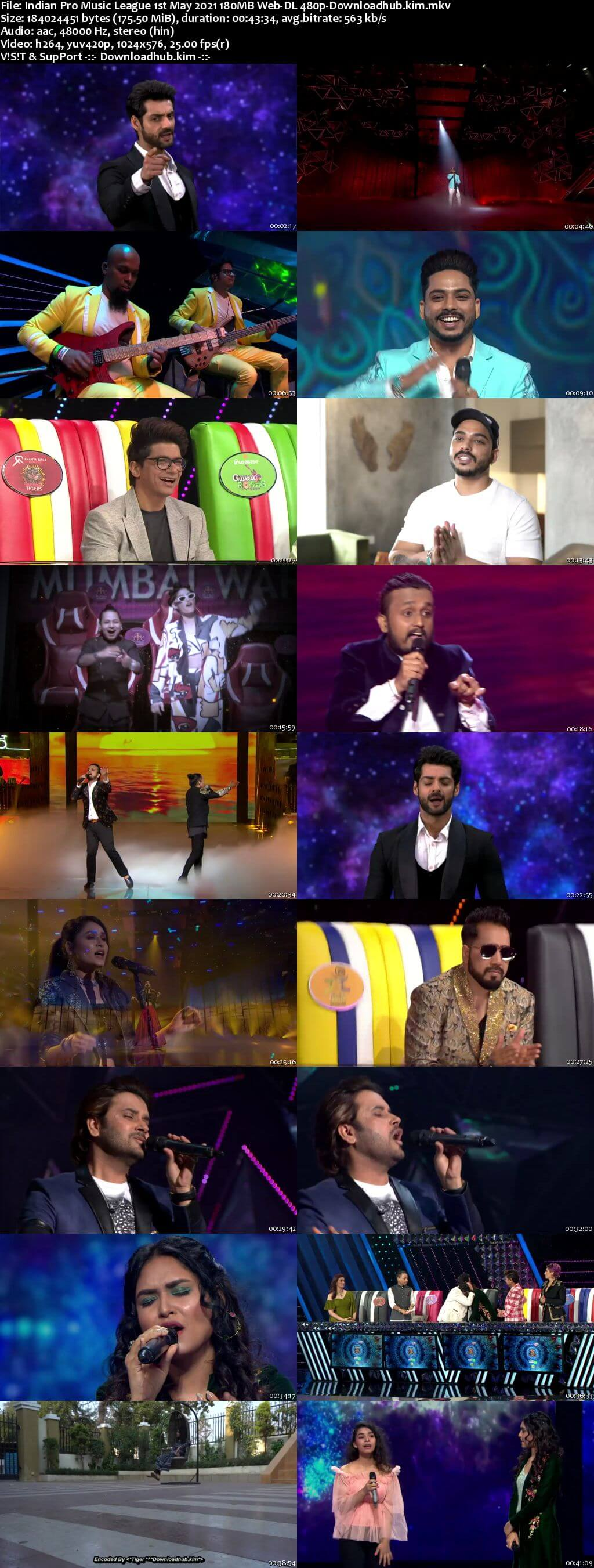 Indian Pro Music League 1st May 2021 180MB Web-DL 480p