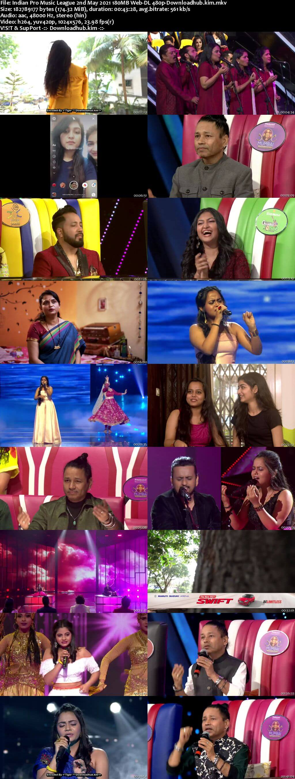 Indian Pro Music League 2nd May 2021 180MB Web-DL 480p