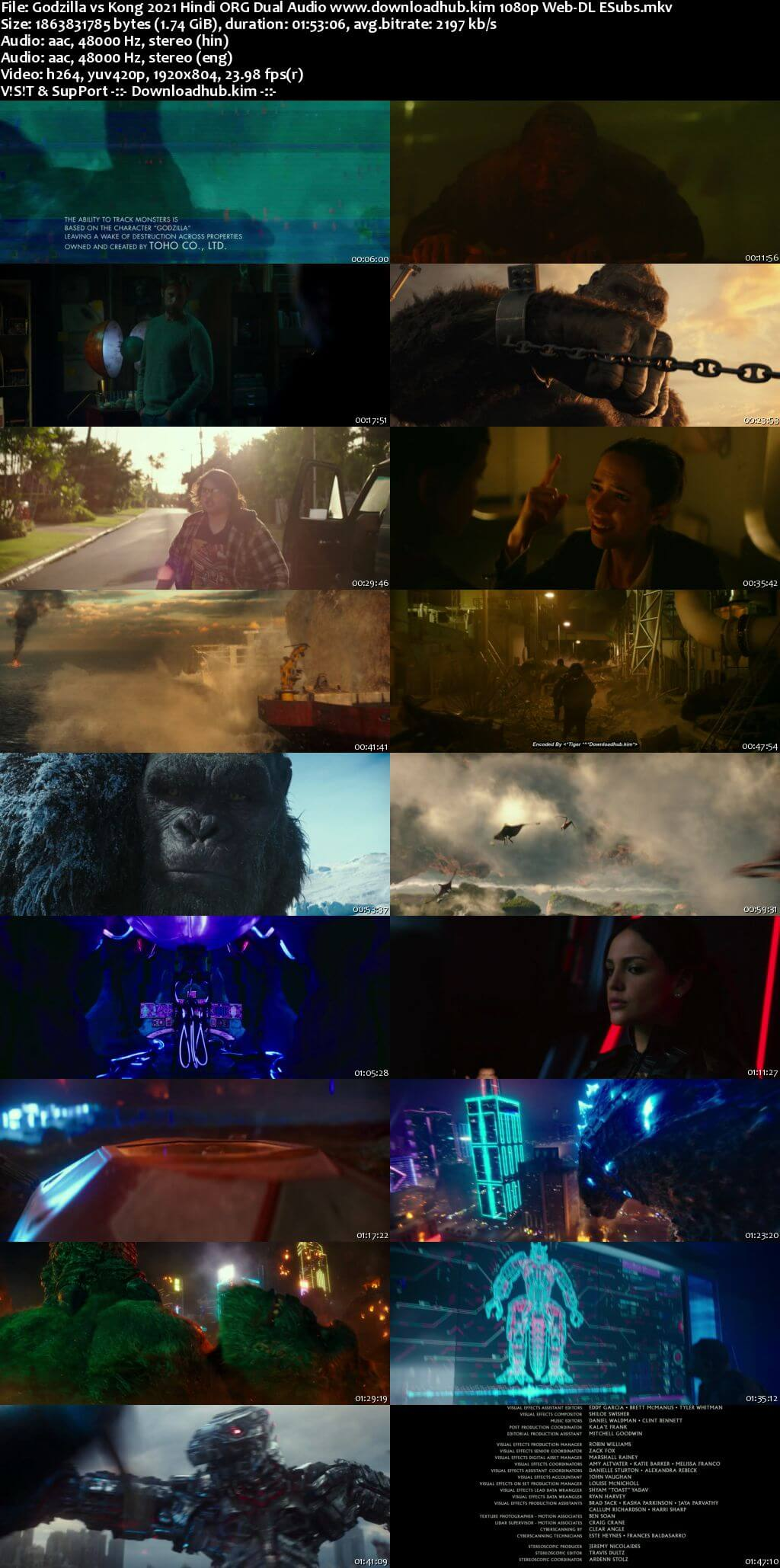 Godzilla vs Kong 2021 Hindi ORG Dual Audio 1080p Web-DL ESubs