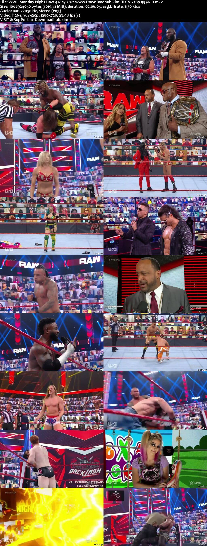 WWE Monday Night Raw 3rd May 2021 720p 500MB HDTVRip 480p