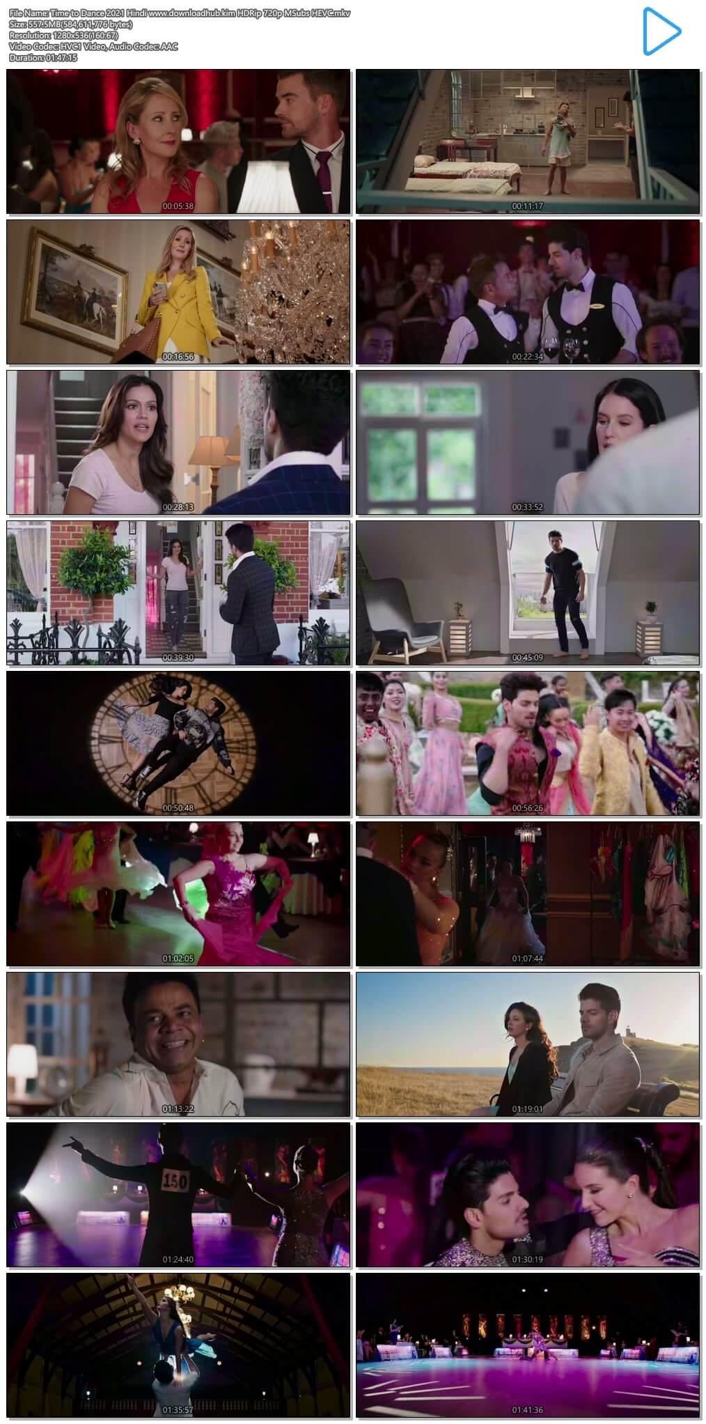 Time to Dance 2021 Hindi 550MB HDRip 720p MSubs HEVC