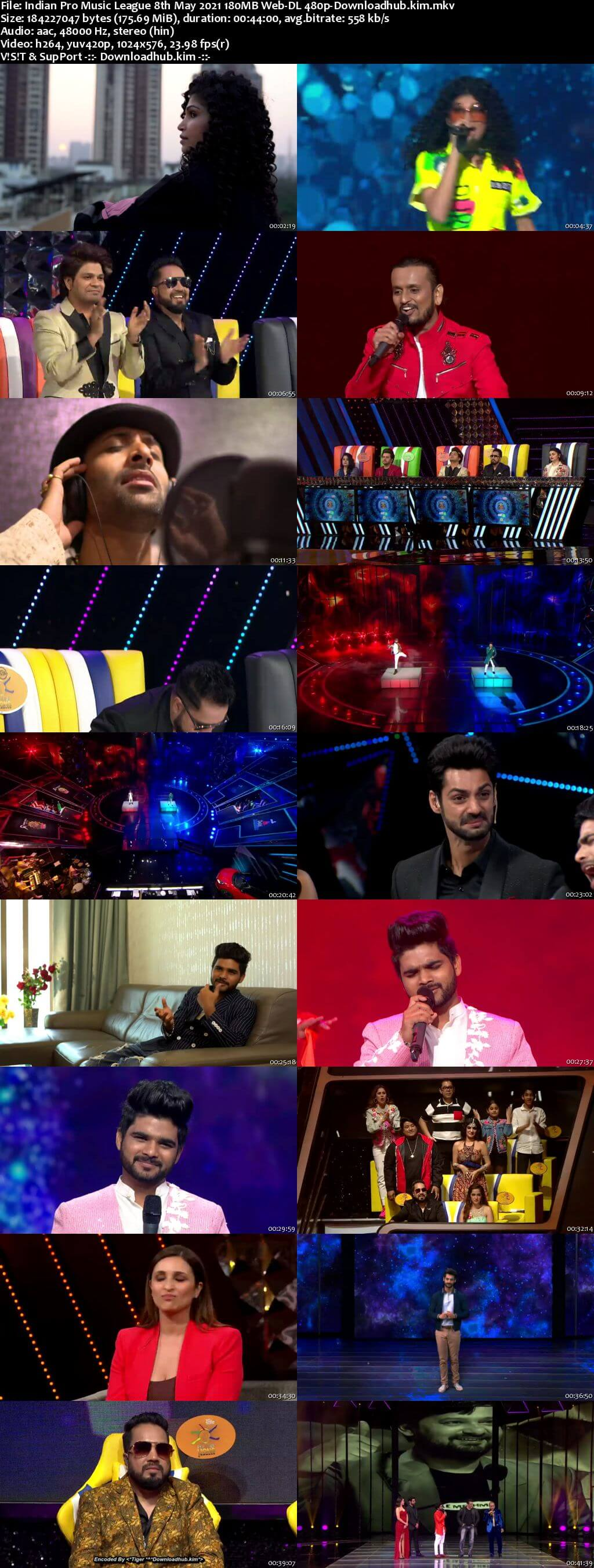 Indian Pro Music League 8th May 2021 180MB Web-DL 480p
