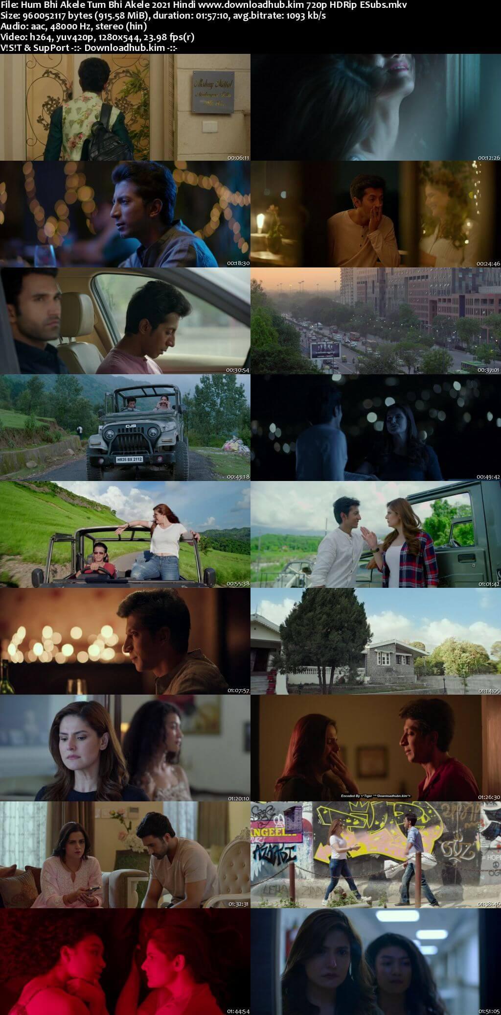 Hum Bhi Akele Tum Bhi Akele 2021 Hindi 720p HDRip ESubs