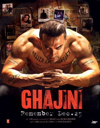 Ghajini 2008 Hindi 900MB BluRay 720p ESubs HEVC