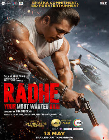 Radhe 2021 Hindi 1080p HDRip ESubs