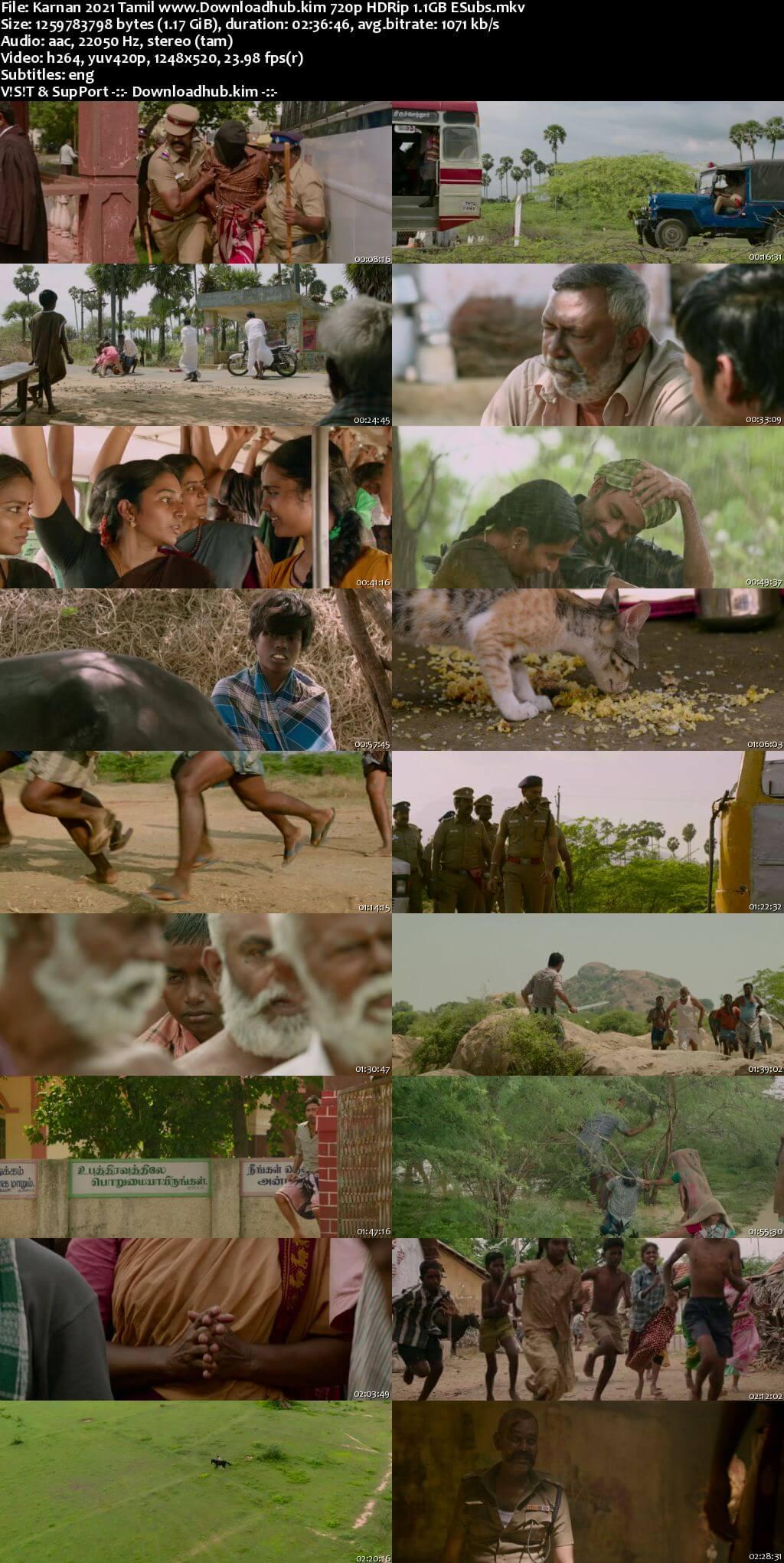 Karnan 2021 Tamil 720p HDRip ESubs