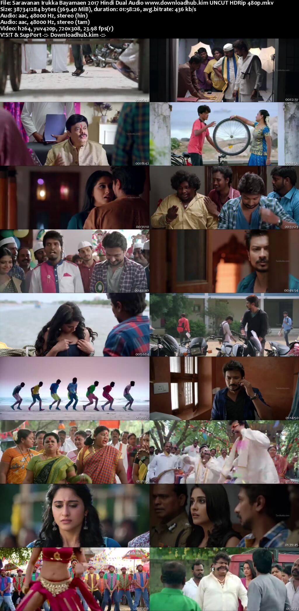 Saravanan Irukka Bayamaen 2017 Hindi Dual Audio 350MB UNCUT HDRip 480p