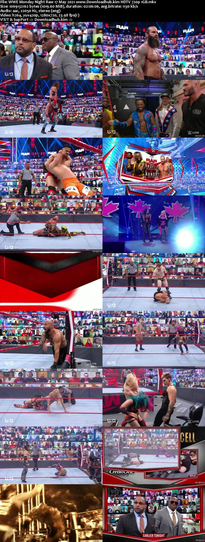 WWE Monday Night Raw 17th May 2021 720p 500MB HDTVRip 480p