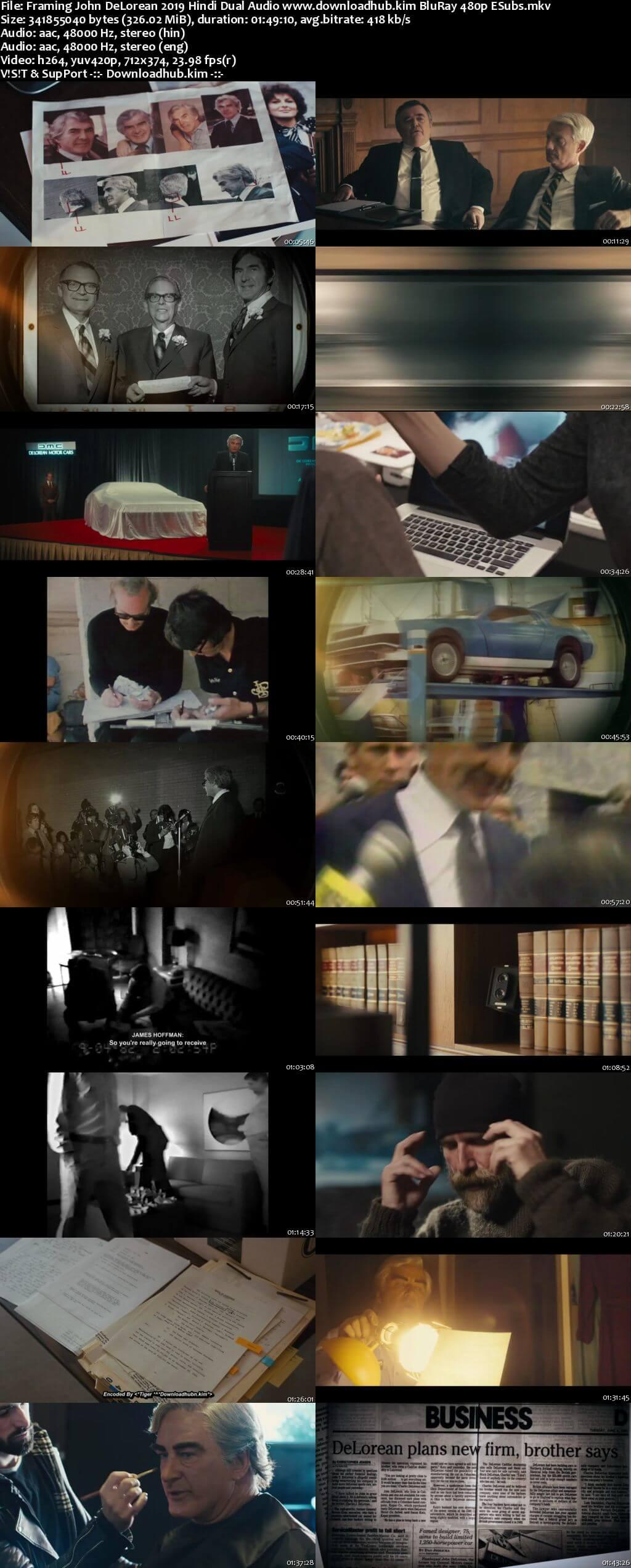 Framing John DeLorean 2019 Hindi Dual Audio 300MB BluRay 480p ESubs