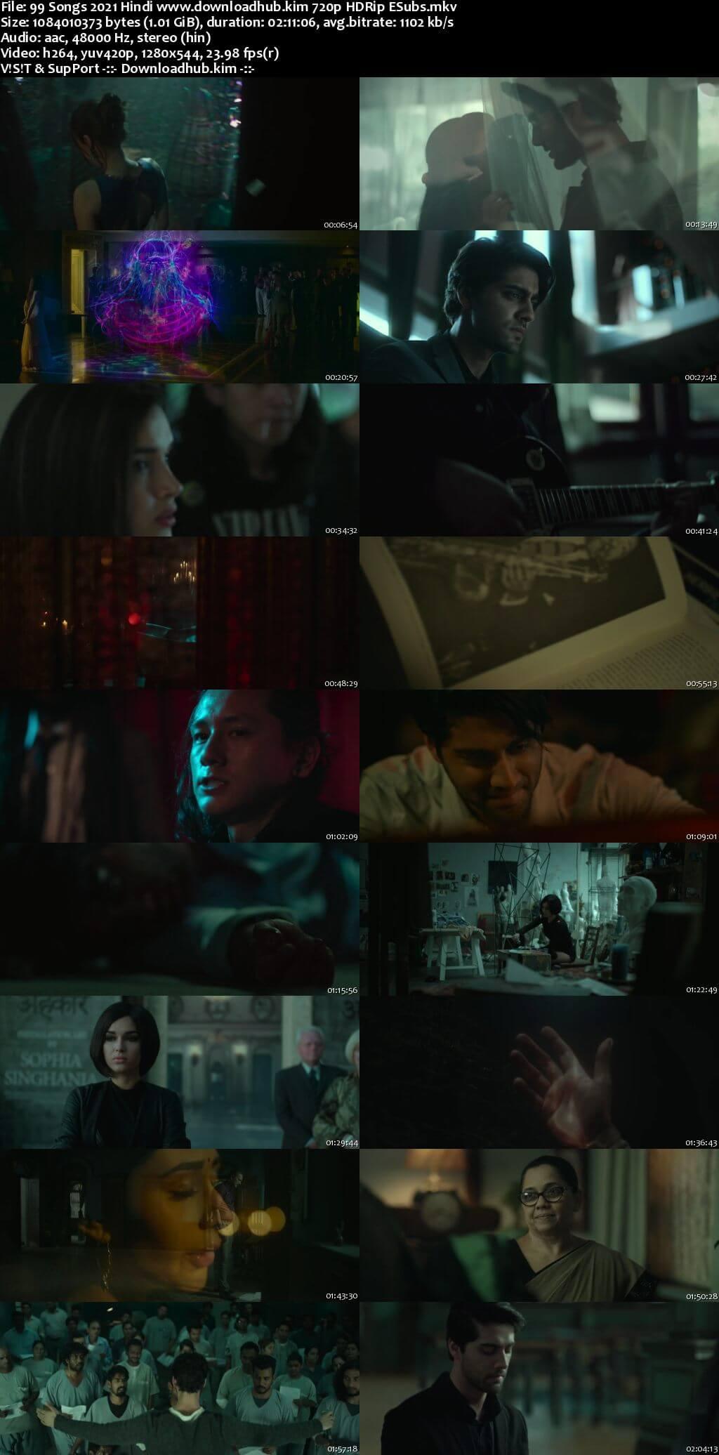 99 Songs 2021 Hindi 720p HDRip ESubs