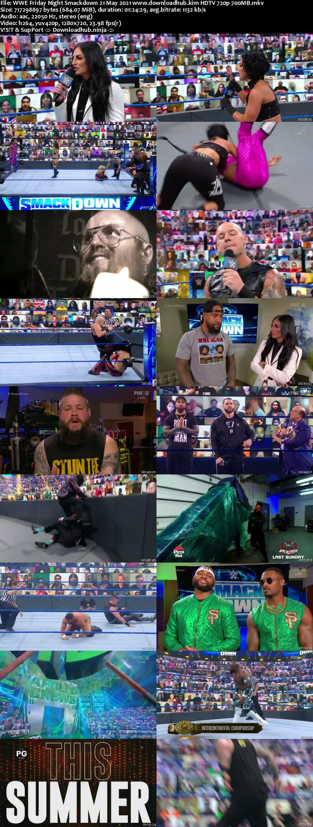 WWE Friday Night Smackdown 21st May 2021 720p 300MB HDTV 480p