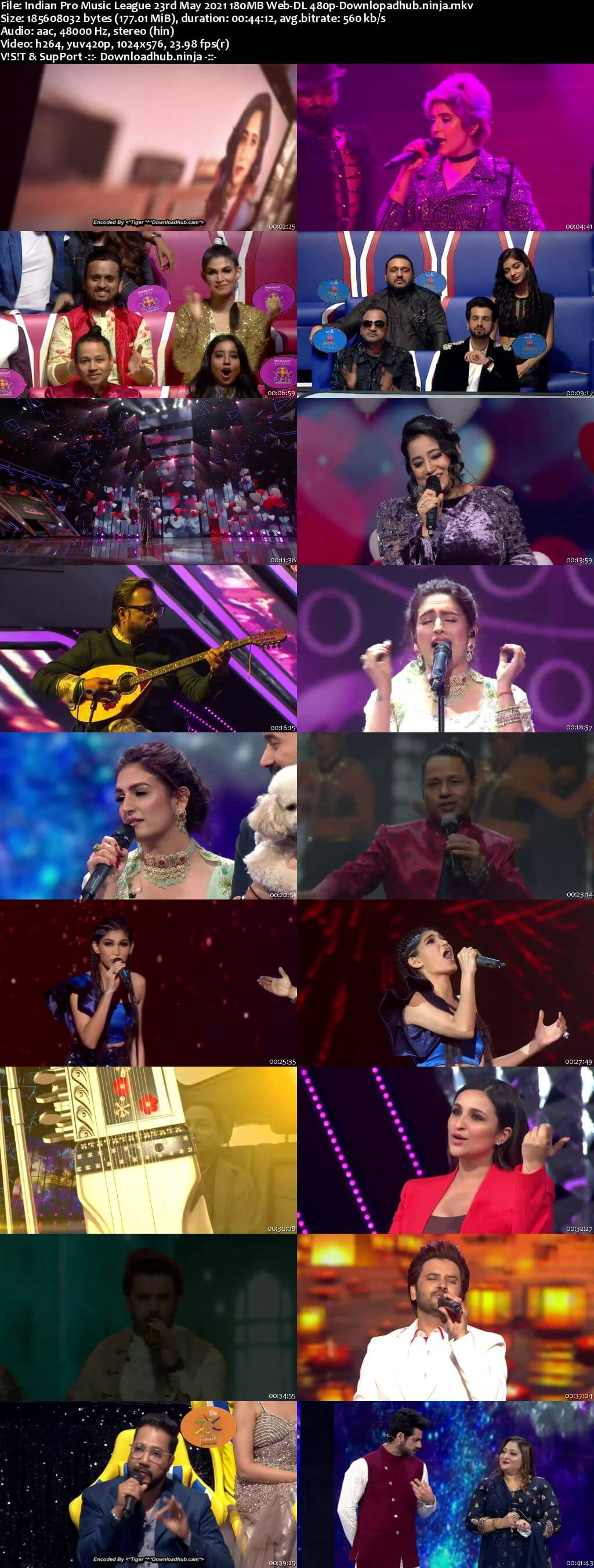 Indian Pro Music League 23rd May 2021 180MB Web-DL 480p