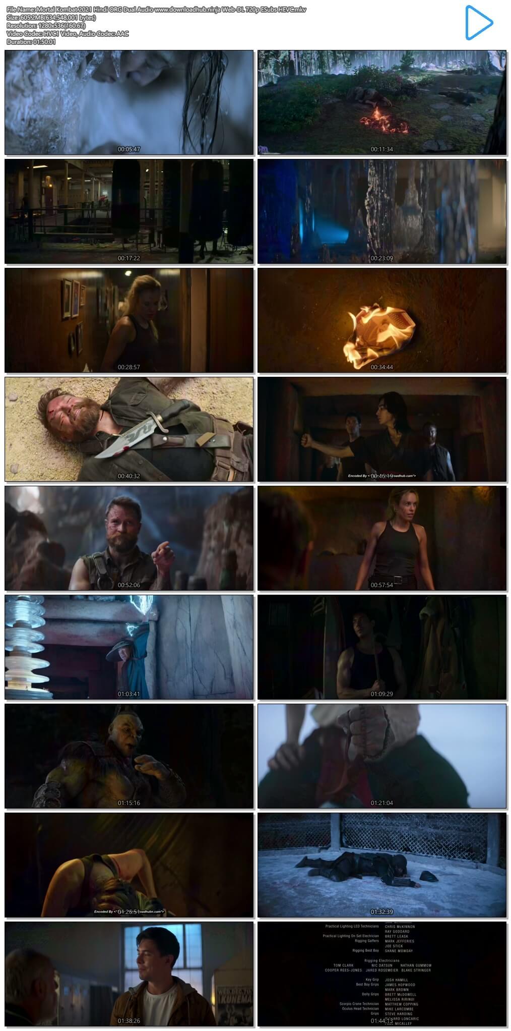 Mortal Kombat 2021 Hindi ORG Dual Audio 600MB Web-DL 720p ESubs HEVC