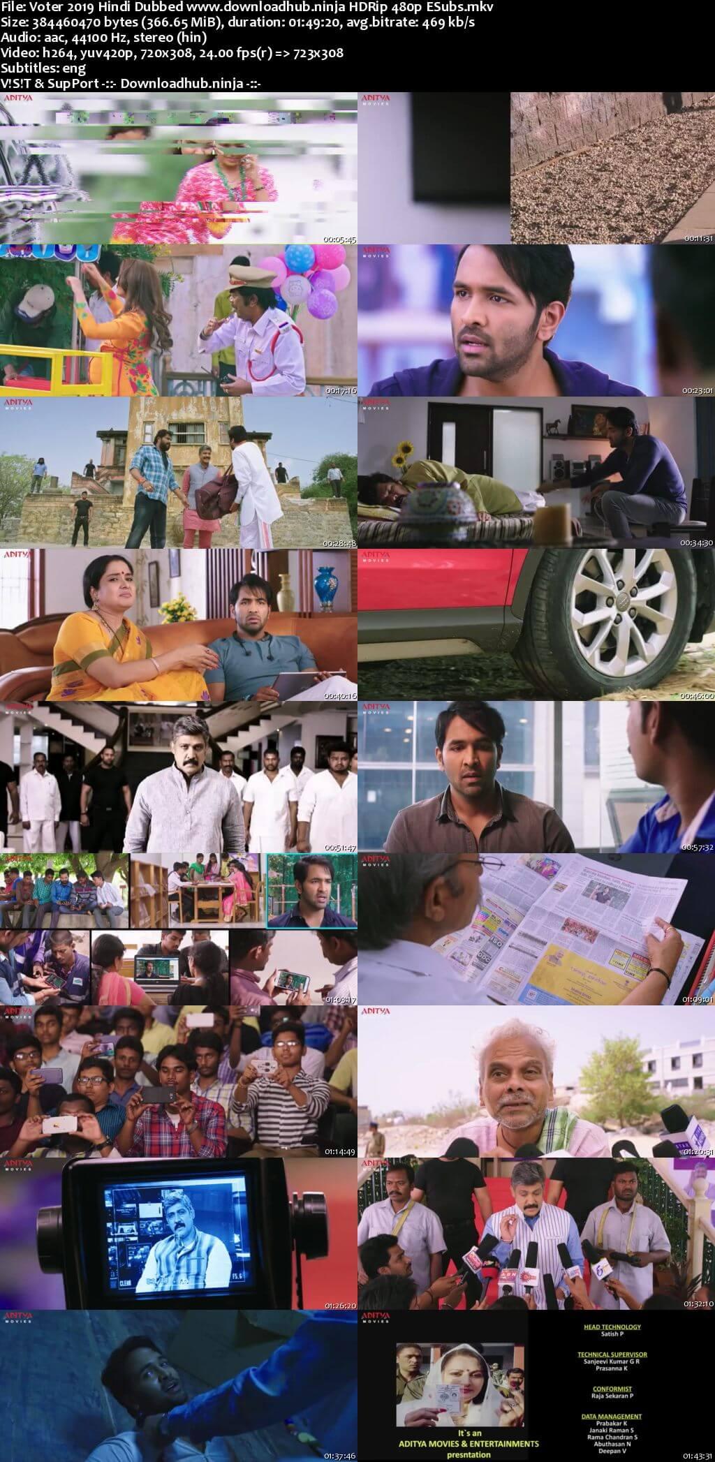 Voter 2019 Hindi Dubbed 350MB HDRip 480p ESubs