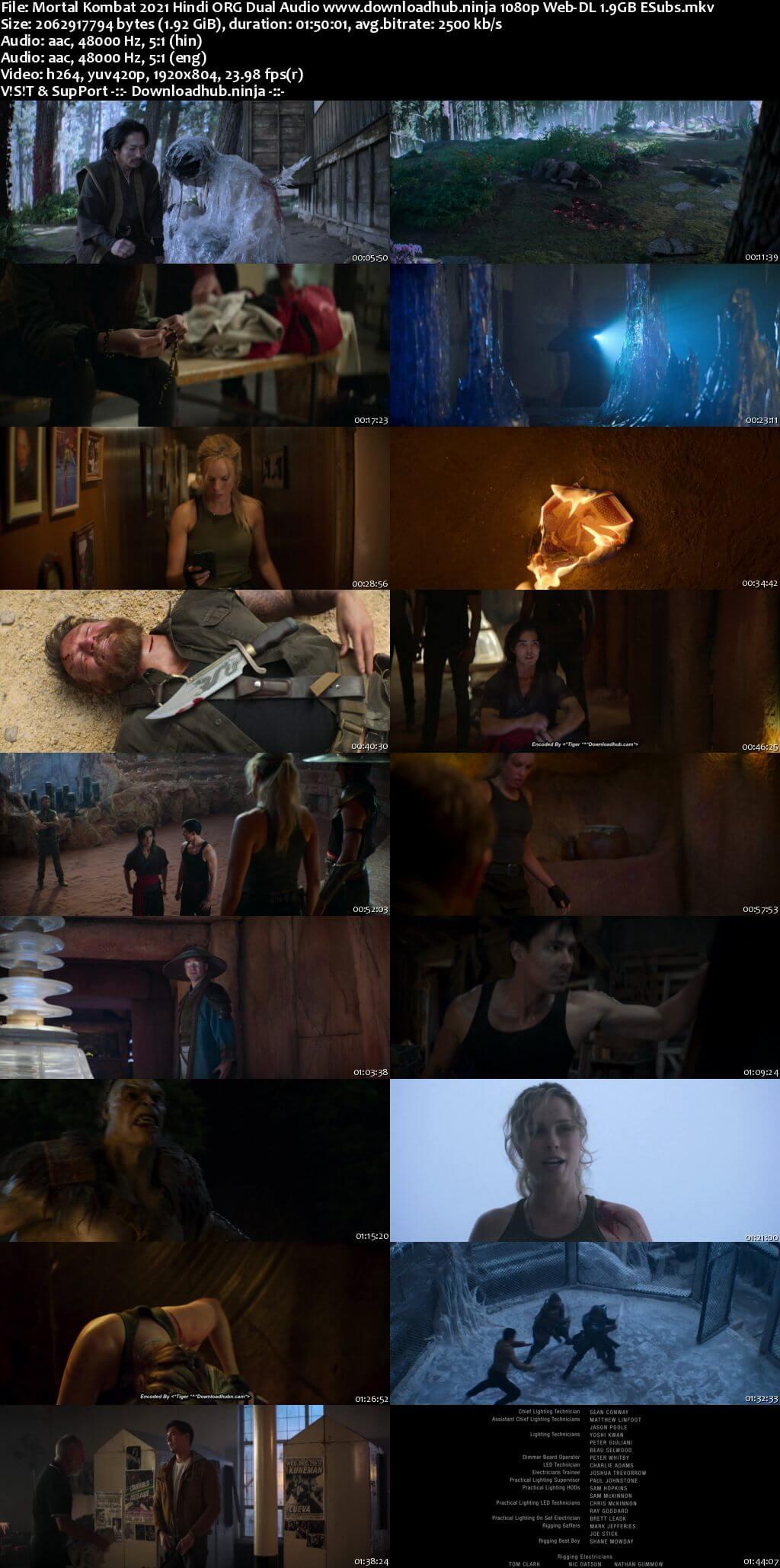 Mortal Kombat 2021 Hindi ORG Dual Audio 1080p Web-DL 1.9GB ESubs