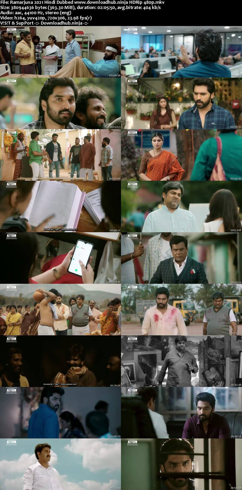 Ramarjuna 2021 Hindi Dubbed 350MB HDRip 480p